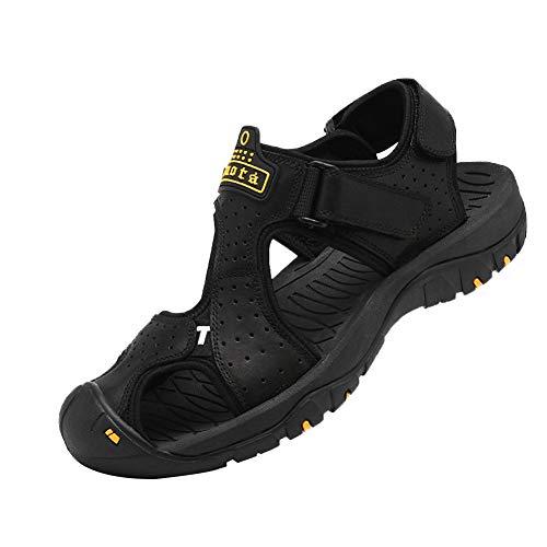 Sandali Sportivi Sport Outdoor Uomo Scarpe Trekking all'aperto per l'escursionismo Traspirante ad Asciugatura Rapida Nero 42EU