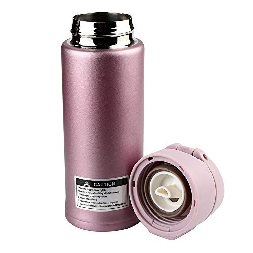 Bobopai Water Bottles Camping Hiking Flasks Cycling Hydration Fitness Outdoor Storage Bikes Equipment/350Ml Travel Mug Office Coffee Tea Keep Warm Water Bottle Cups (Pink)