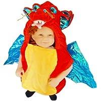 F59 Taglia 2-3A (92-98cm) Costume da Drago per bambini e neonati, indossabile comodamente sui vestiti (Drago Bambino Costume)