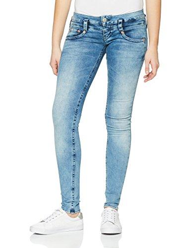 Herrlicher Damen Slim Jeans Pitch, Blau (Pearl River 724), W30/L30 (Herstellergröße: 30)