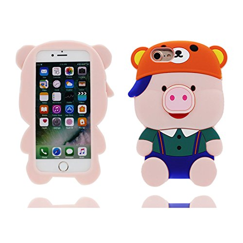 "Apple iPhone 6s Plus Coque Housse, TPU Gel Shell pour les filles Shell Cover iPhone 6 Plus / 6S Plus étui 5.5"" [ Cute 3D Cartoon chocolat] Anti-rayures-anti-rayures # 7"