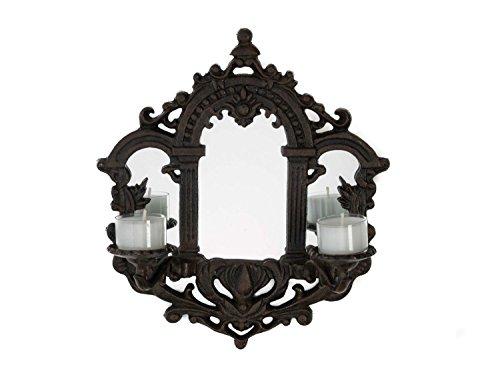 Kerzenleuchter mit Spiegel Wandkerzenleuchter Kandelaber Wandspiegel Eisen iron