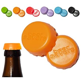 smartec24® Silikon Kronkorkenverschluss orange. Silikon Verschlusskappe für alle Flaschenhälse mit Kronkorkenverschluss