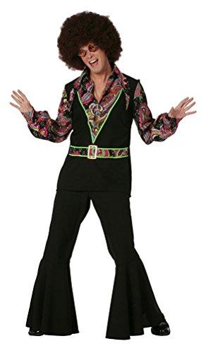 (Karneval Klamotten Hippie Hemd Kostüm Herren Flower-Power Kostüm Peace Hemd Batik 60er 70er Jahre Kostüm Karneval Herren-kostüm Größe 64)