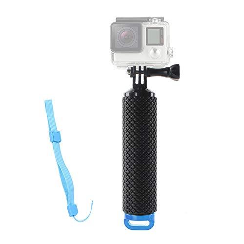 Schwimmer Handgriff,Wasserdichte Schwimmender Unterwasser Hand Griff Strukturierter Rutschfest Schaumstoff Easy Grip für Sport Kamera Action-Kamera Hero 5/3 mit Verstellbare Handschlaufe 78cm Schwarz (Hand Griff)