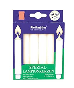 Riethmüller 8842 - Lampion-Kerzen, 6 Stück