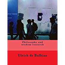 Philosophy and wisdom research (English Edition)