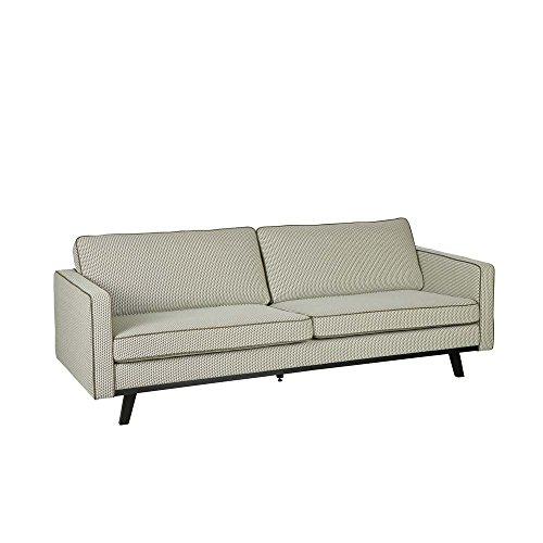 Pharao24 Design Sofa im Retro Look Grün Gemustert