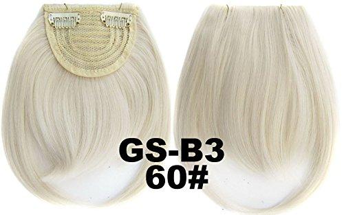 # 60 100% fibre synthétique haute température Clip dans/sur cheveux avant frange frange cheveux