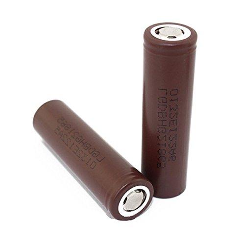 LG HG2 18650 High-Drain 20/30 A 3000 mAh wiederaufladbare Flat Top Batterie