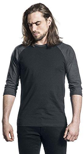 Urban Classics Herren T-Shirt Mehrfarbig (Blk/Cha 445)