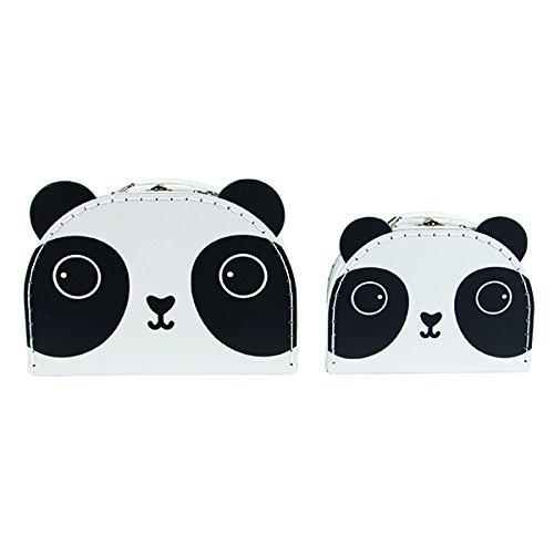 """Zwei kleine Koffer """"Pandabär"""" im Set - ideal zur Aufbewahrung von Bastelutensilien, Krimskrams, etc."""