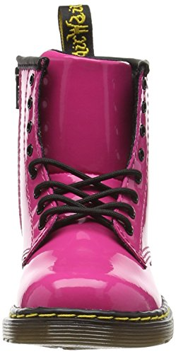 Dr. Martens Brooklee Patent Hot Pink, Chaussures Bateau Fille Rose - Pink (Hot Pink)