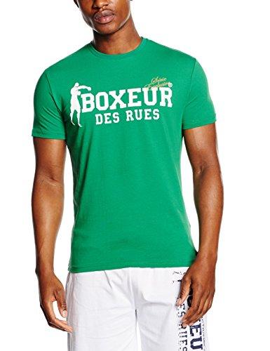Boxeur Des Rues Sèrie Exclusive T-Shirt Logo Bandiera Francese, Green, M