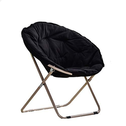 XITER Möbel Moon Chair - Großer Komfort Stuhl Lazy Chair Balkon Klappstuhl Camping Lazy Sofa Large (Farbe : Schwarz)