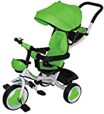 kidfun Passeggino Triciclo con Sedile Girevole 360 Tricygò Verde
