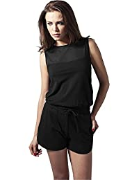URBAN CLASSICS - Ladies Tech Mesh Hot Jumpsuit (black)