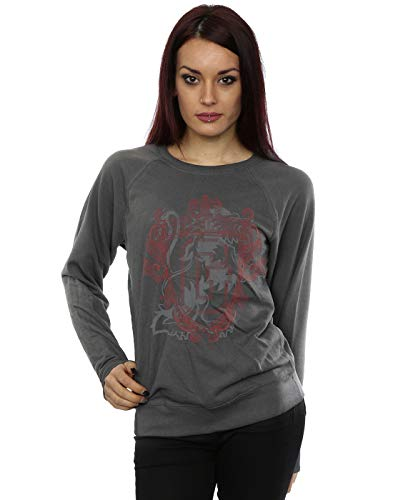 Harry Potter Damen Gryffindor Lion Crest Sweatshirt Holzkohle XX-Large -