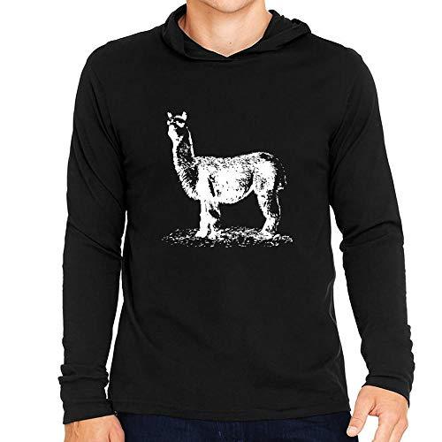 Idakoos Alpaca Sketch Kapuze Langarm T-Shirt M -