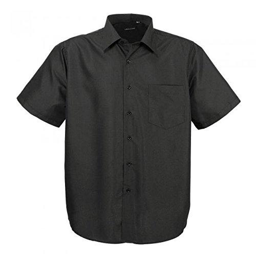 Hka14-01 Schwarz klassisches kurzarm Übergröße Herren Lavecchia kurzarm Hemd Gr. 3-7 XL (5XL)