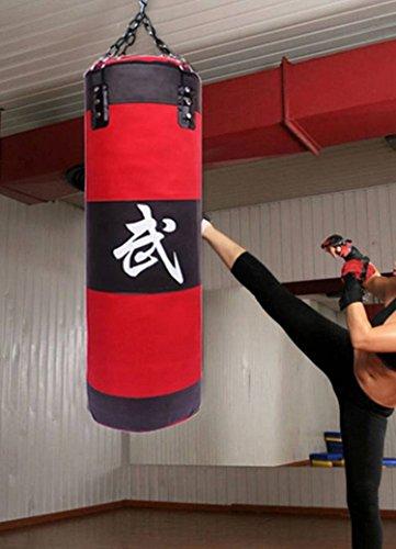 CAMTOA Sac De Frappe Lourd Mural Non-Rempli Pied Poing Kickboxing Cible Crochet De Plafond Karaté Thaï poinçon coup de pied 90cm