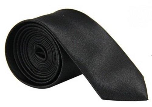 """Y-BOA - Cravate Unie - Homme Modern- Polyester -Slim/Fine- Solide - 2""""*56""""- Réglable- Costume Mariage Affaires (#13 Rouge foncé)"""