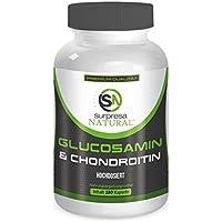 Glucosamin & Chondroitin für starke Gelenke von Surpresa Natural | 180 Kapseln Hochdosiert