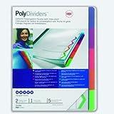 Rexel PolyDividers - Etiquetas de identificación por colores