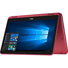 "Dell Inspiron 3179 11.6"" HD Touchscreen Convertible Laptop PC - Intel Core M3-7730 1.0GHz, 4GB, 500GB HDD, Webcam, Bluetooth, Intel HD 615 Graphics, Windows 10 Home (Red)"