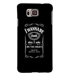 Printvisa Black And White Good Times Quote Back Case Cover for Samsung Galaxy Alpha G850