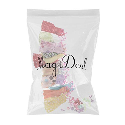 MagiDeal 12 Pz Gonne + 12 Pz Hanger Appenditutti + 12 Paia Scarpe per Barbie Bambole Abbigliamento e Accessori, 1 Set