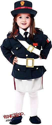 Italienisch Made Deluxe 7 Stück Baby Kleinkind Mädchen Polizei Cop Verkleidung Kostüm Kleidung 0-24 Monate - 1 (Kleinkind Kostüm Cop)