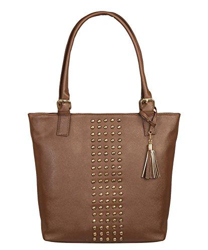 Levise London Women Designer Handbags for College Office Parties – Stylish Luxury Handbags - Luxury Handheld Bags for Women - Brown LL-0069