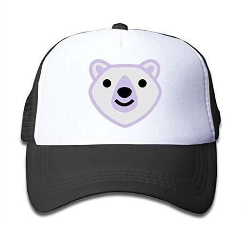 Purple White Bear Boy's Cartoon Adjustable Mesh Baseball Hats -