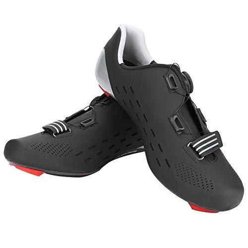VGEBY1 Fahrradschuhe, Carbon Fiber Lightweight Wear Resistant Bike Schuhe Fahrradschuhe Zubehör(45-Schwarz)