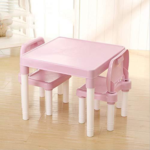 ZH Tische Und StüHle Aus Kunststoff FüR Kinder, Moderner Quadratischer Kleiner Tisch Und 2 StüHle,Alphabetische Buchstaben Tischplatte, Leicht, FüR 1-2-3-4-5 JäHrige - Kunststoff-stuhl Moderner
