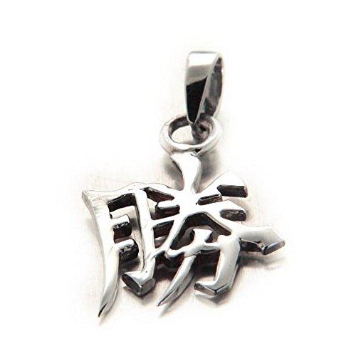 Pendentif Porte-bonheur Chinois Feng Shui en argent estampillé 925 \