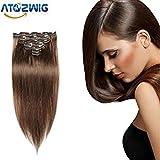 ATOZHair Remy Clip In Human Hair Extensi...