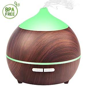 Aroma Diffuser, Avaspot 250ml Diffusor Aromatherapie Luftbefeuchter Ultraschall Ätherische Öle Diffusor für Babies Kinderzimmer Haus, Wohnzimmer, Schlafzimmer, Büro, Yoga, Spa, usw