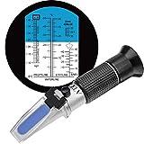 HHTEC 4-in-1 Frostschutz Refraktometer Ethylenglykol, Propylenglykol, für Gefrierpunkt von Kühlwasser