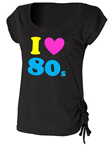 I Loveheart The 80s Ladies Drawstring Top
