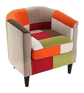 versa sessel red patchwork k che haushalt. Black Bedroom Furniture Sets. Home Design Ideas
