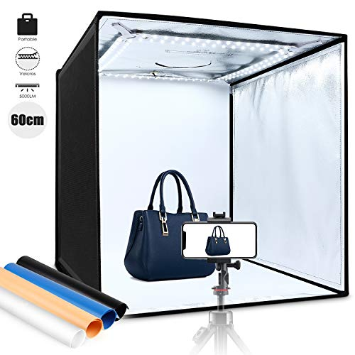 Amzdeal Caja Luz Fotografía 60x60x60cm Portátil