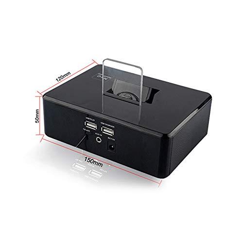 qiyanCreative Digital Alarm Clock Haut-Parleur sans Fil Bluetooth Stéréo Son FM Radio Haut-Parleur Base de Chargement rotative Haut-Parleur Portable Enceintes