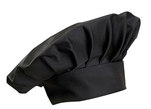Kochmütze, Farbe zur Auswahl, Profimütze, Qualitäts-Arbeitskleidung, made in germany Schwarz