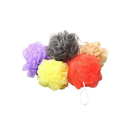 nalmatoionme Schwamm Bad Dusche Körper Puff Mesh Ball Bad Zubehör (zufällige Farbe) -