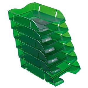 Herlitz 11247251 - Vaschetta porta-corrispondenza, formati A4-C4, in PET riciclato, confezione da 6 pezzi, colore: Blu traslucido