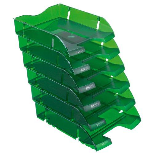 Herlitz 11247251 Ablagekorb A4-C4 space PET-Recylat (  6 Stück im Pack ) flaschengrün transluzent
