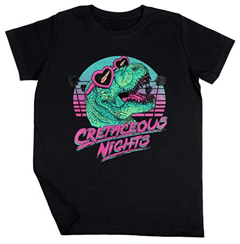 Cretaceous Nights Schwarz T-Shirt Jungen Mädchen Größe M | Unisex Kids Black T-Shirt Size M