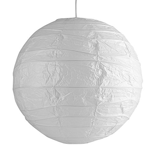 Pair Of - Ambient Modern Large 50cm White Round Sphere Globe Shaped Chinese Paper Lantern Ceiling Pendant Lamp Shades